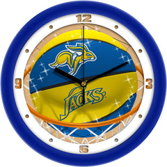 South Dakota State Jackrabbits Slam Dunk Wall Clock