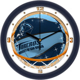 San Diego Toreros Slam Dunk Wall Clock