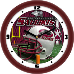 Southern Illinois Salukis Football Helmet Wall Clock