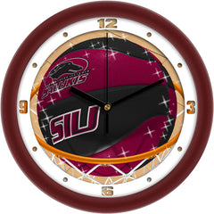 Southern Illinois Salukis Slam Dunk Wall Clock