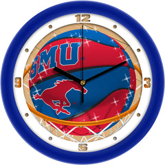 SMU Mustangs Slam Dunk Wall Clock