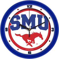 SMU Mustangs Traditional Wall Clock