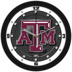 Texas A&M Aggies Carbon Fiber Wall Clock