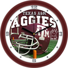 Texas A&M Aggies Football Helmet Wall Clock