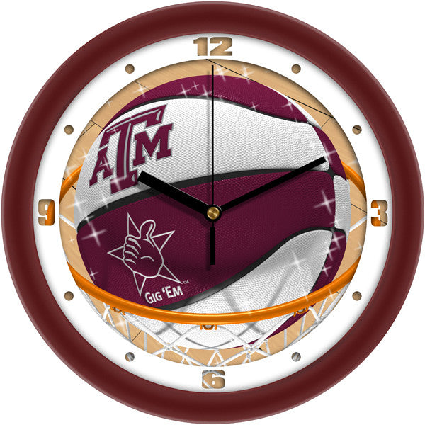 Texas A&M Aggies Slam Dunk Wall Clock
