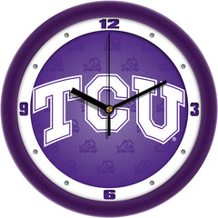 TCU Horned Frogs Dimension Wall Clock