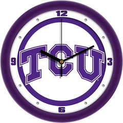 TCU Horned Frogs Traditional Wall Clock