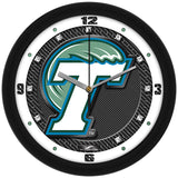 Tulane Green Wave Carbon Fiber Wall Clock