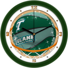 Tulane Green Wave Slam Dunk Wall Clock