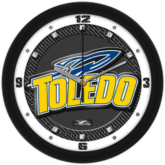 Toledo Rockets Carbon Fiber Wall Clock