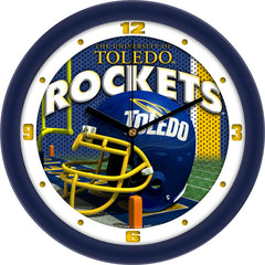 Toledo Rockets Football Helmet Wall Clock