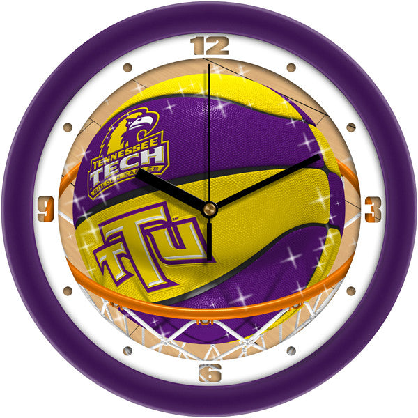 Tennessee Tech Golden Eagles Slam Dunk Wall Clock
