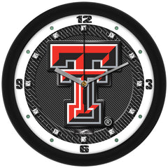 Texas Tech Red Raiders Carbon Fiber Wall Clock