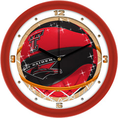 Texas Tech Red Raiders Slam Dunk Wall Clock