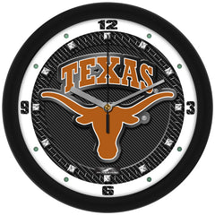 Texas Longhorns Carbon Fiber Wall Clock
