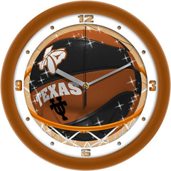 Texas Longhorns Slam Dunk Wall Clock