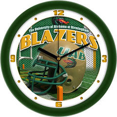 UAB Blazers Football Helmet Wall Clock