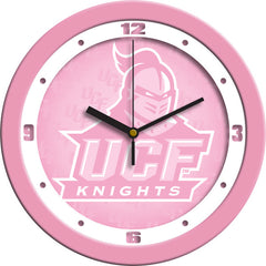 Central Florida Knights Pink Wall Clock