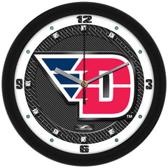 Dayton Flyers Carbon Fiber Wall Clock