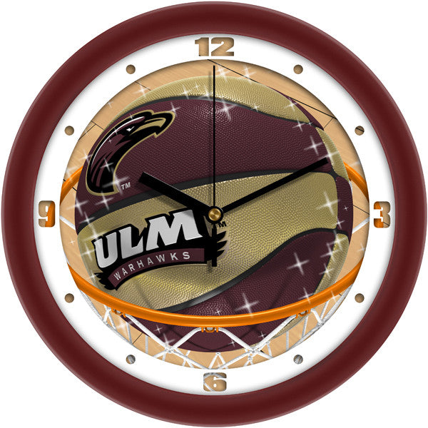 Louisiana Monroe Warhawks Slam Dunk Wall Clock