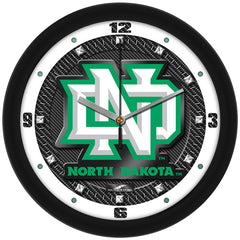 North Dakota Fighting Sioux Carbon Fiber Wall Clock