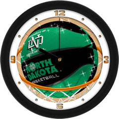 North Dakota Fighting Sioux Slam Dunk Wall Clock
