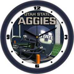 Utah State Aggies Football Helmet Wall Clock