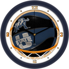Utah State Aggies Slam Dunk Wall Clock