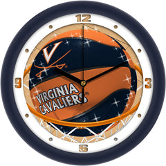 Virginia Cavaliers Slam Dunk Wall Clock