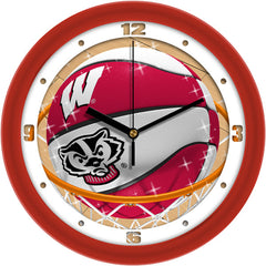Wisconsin Badgers Slam Dunk Wall Clock