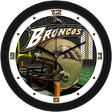 Western Michigan Broncos Football Helmet Wall Clock
