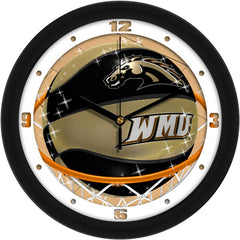 Western Michigan Broncos Slam Dunk Wall Clock