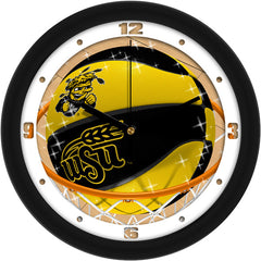 Wichita State Shockers Slam Dunk Wall Clock