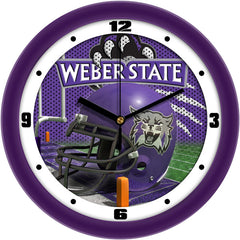 Weber State Wildcats Football Helmet Wall Clock