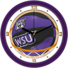 Weber State Wildcats Slam Dunk Wall Clock
