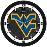 West Virginia Mountaineers Carbon Fiber Wall Clock