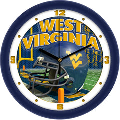 West Virginia Mountaineers Football Helmet Wall Clock