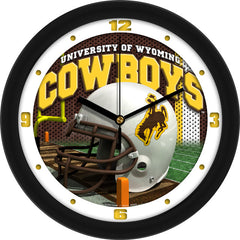 Wyoming Cowboys Football Helmet Wall Clock
