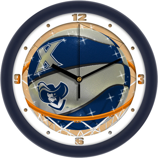 Xavier Musketeers Slam Dunk Wall Clock
