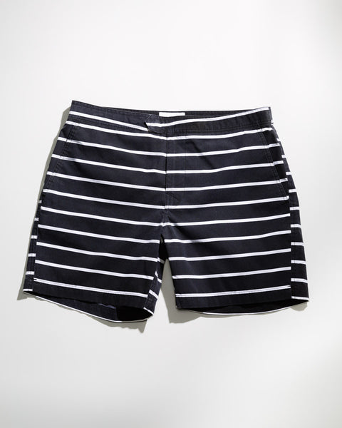 "Stripe 7"" Swim Trunk - ANYBRAND  - 1"