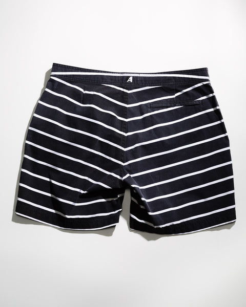 "Stripe 7"" Swim Trunk - ANYBRAND  - 2"