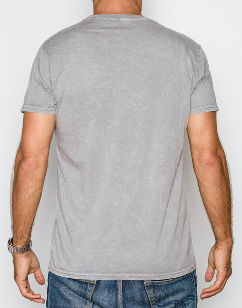 Power Wash V-Neck Tee - Steel Grey - ANYBRAND  - 2
