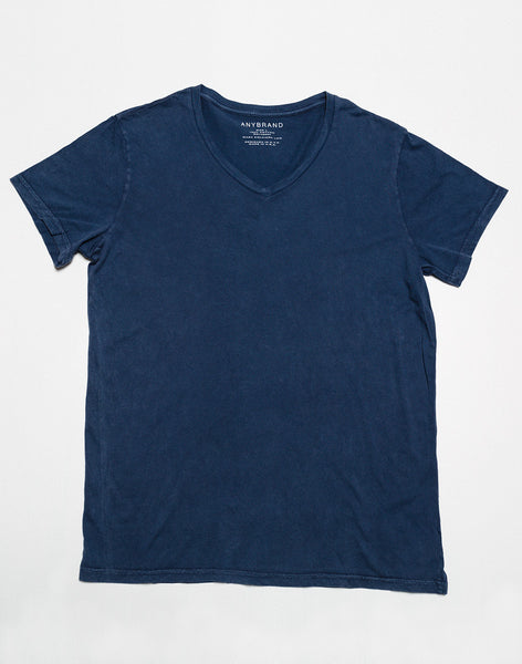 Power Wash V Neck T - Deep Sea - ANYBRAND