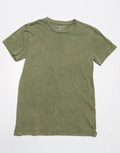 POWER WASH CREW NECK T-SHIRT - OLIVE