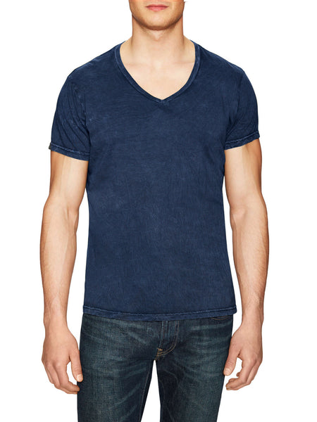 POWER WASH V-NECK T - DEEP SEA