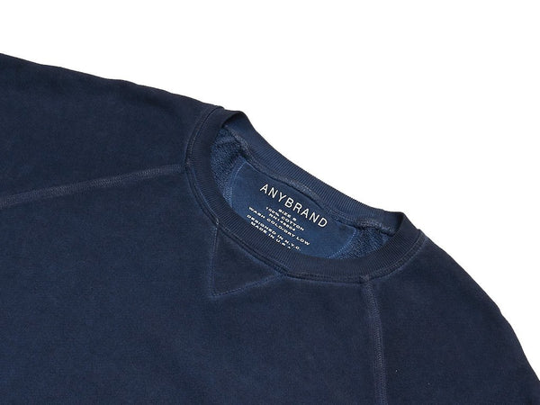 OIL WASH SWEATSHIRT - INDIGO