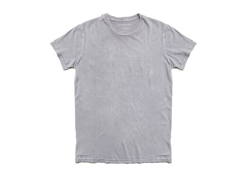 POWER WASH CREW NECK T-SHIRT - STEEL GREY