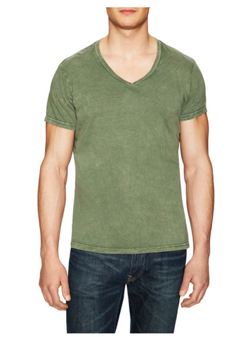 Power Wash V-Neck -Olive - ANYBRAND  - 1