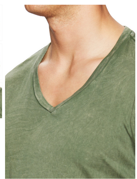 Power Wash V-Neck -Olive - ANYBRAND  - 3
