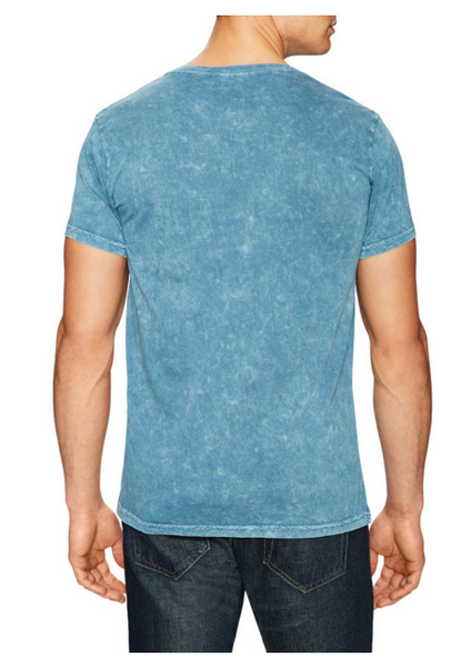 Power Wash V-Neck Tee- Mineral Blue - ANYBRAND  - 2